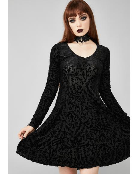 Insidious Romance Velvet Dress