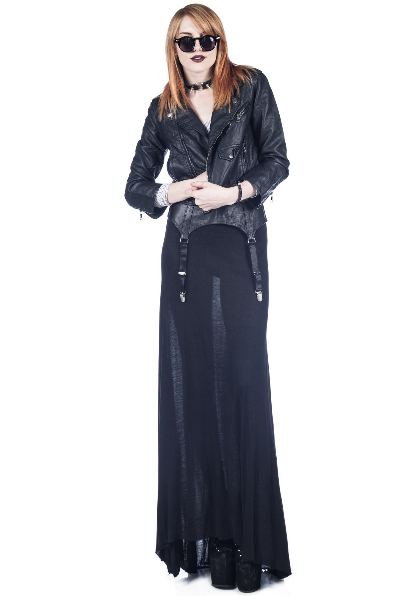 Widow Garter Belt Maxi Skirt