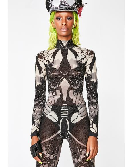 Magic Morphin' Maven Sheer Catsuit