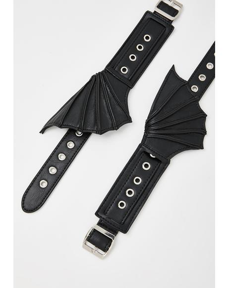 Bat Shoe Cuffs