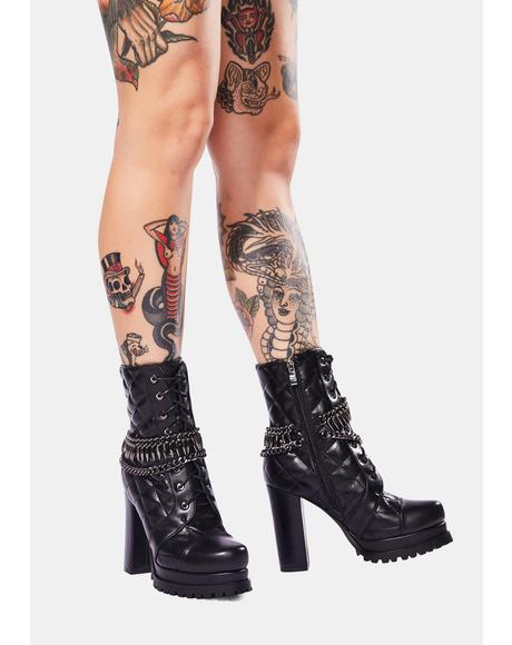 Kiss Of Death Heeled Booties