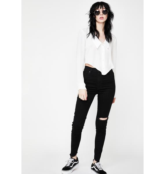 Levis In The Black Mile High Skinny Jeans