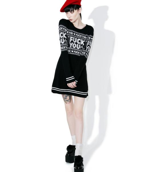 Sourpuss Clothing Fuck You Sweater Dress