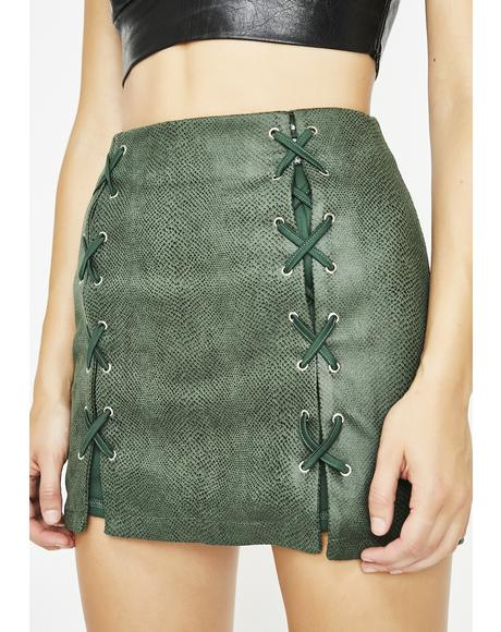 Snake Pit Mini Skirt