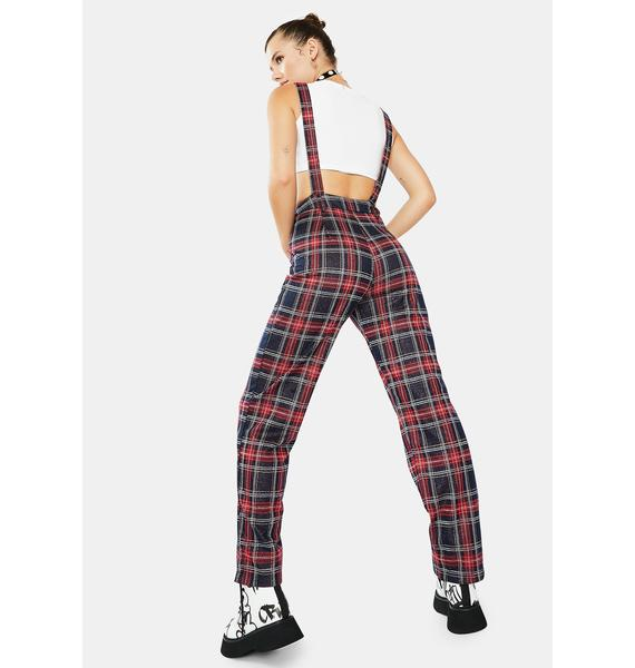 Navy Heading Out Suspender Pants
