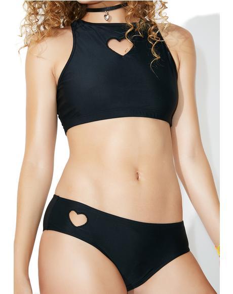 Heart Hole Bikini Bottoms