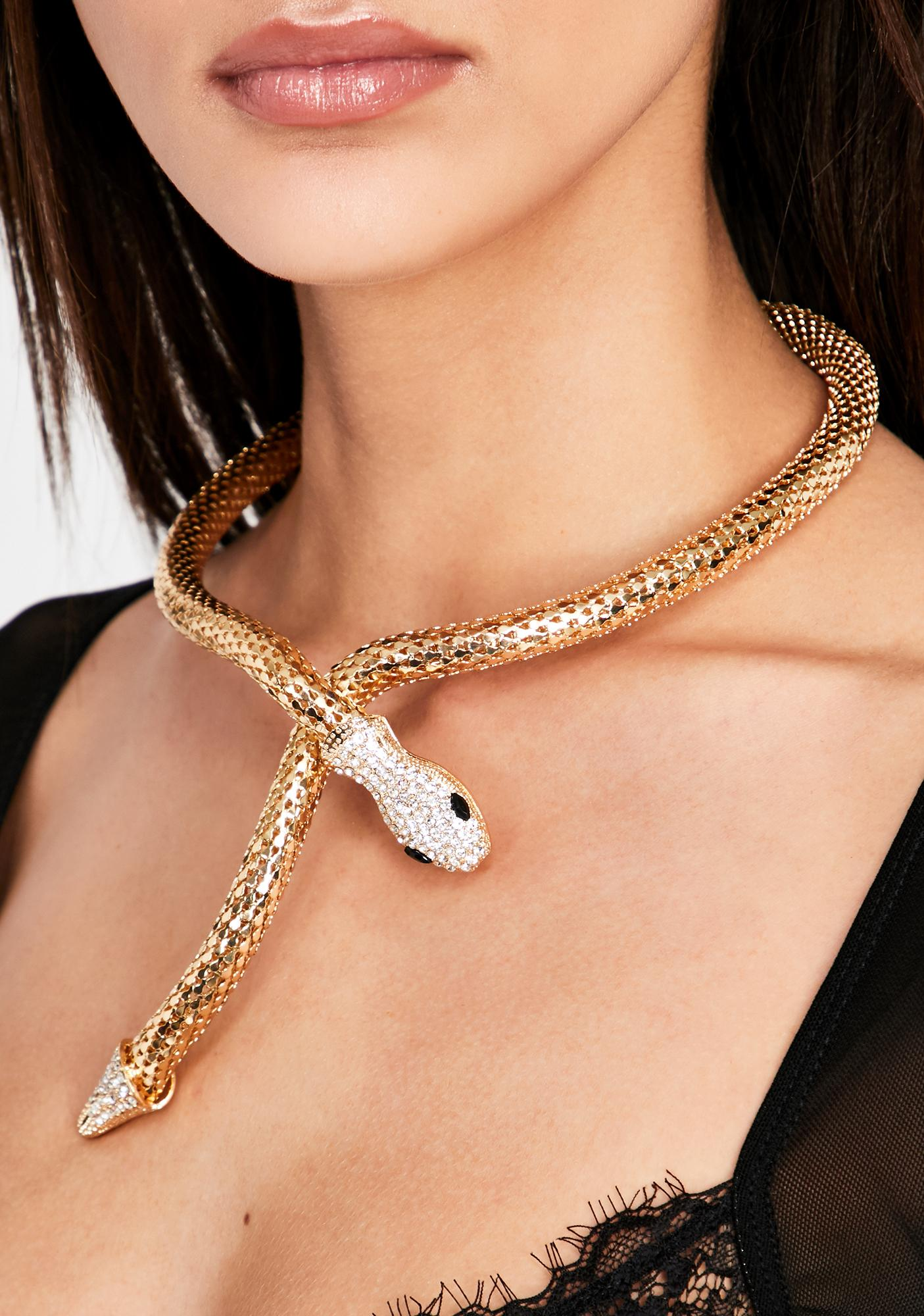 Glowin' Toxic Ambition Snake Necklace