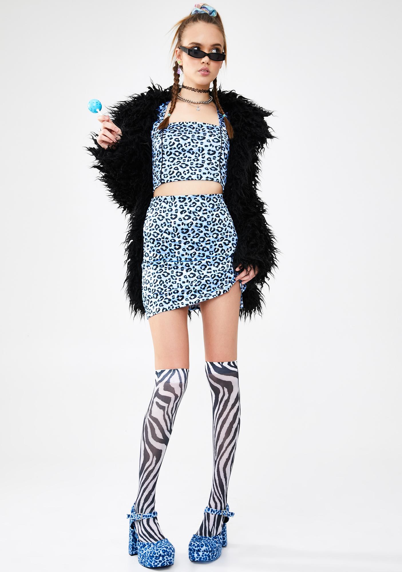 dELiA*s by Dolls Kill Wild Calling Mini Skirt