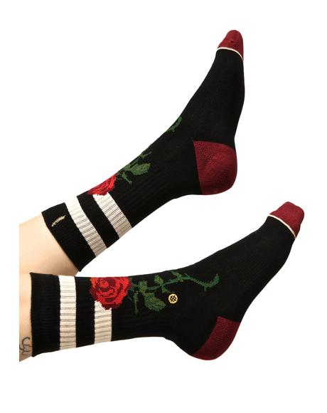 The Rose Classic Crew Socks