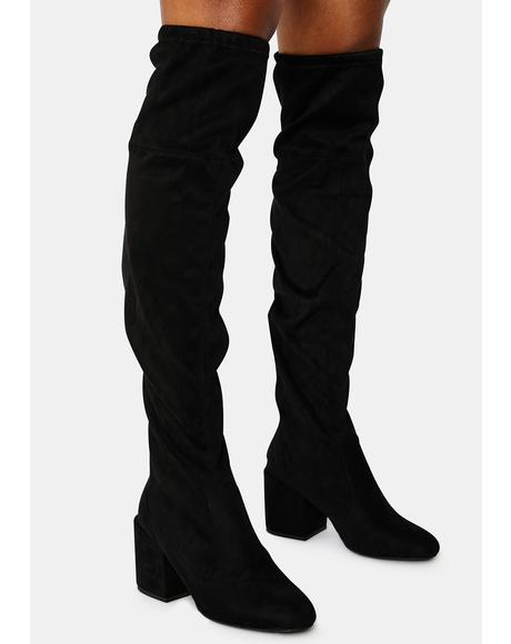 Nighttime Strut Knee High Boots