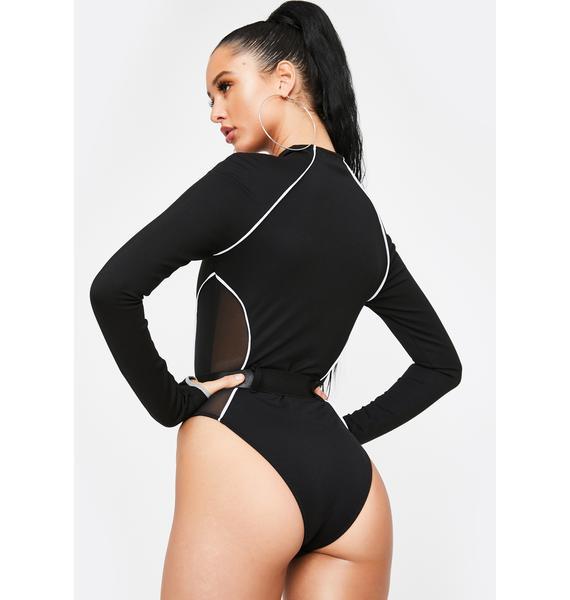 Poster Grl Hashtag Executive Suite Reflective Bodysuit