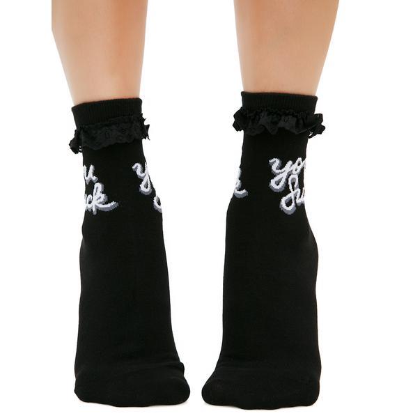 Killstar You Suck Ankle Socks
