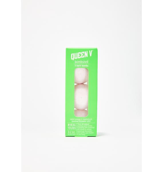 Queen V Bombshell Menstrual Relief Bath Bombs