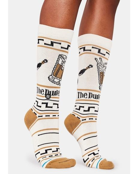 Big Lebowski The Dude Crew Socks