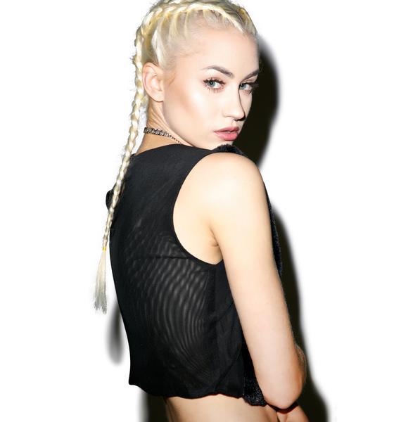 Line & Dot Bonnie Faux Fur Top