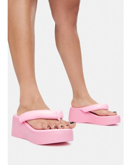 Song Platform Puff Thong Sandals