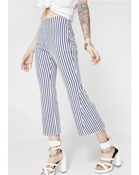 Catch Me Later Striped Pants