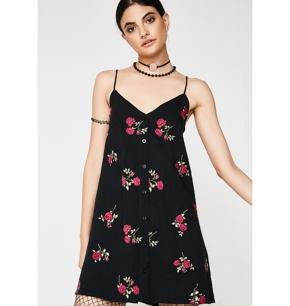 Motel Grunge Rose Sanna Slip Dress