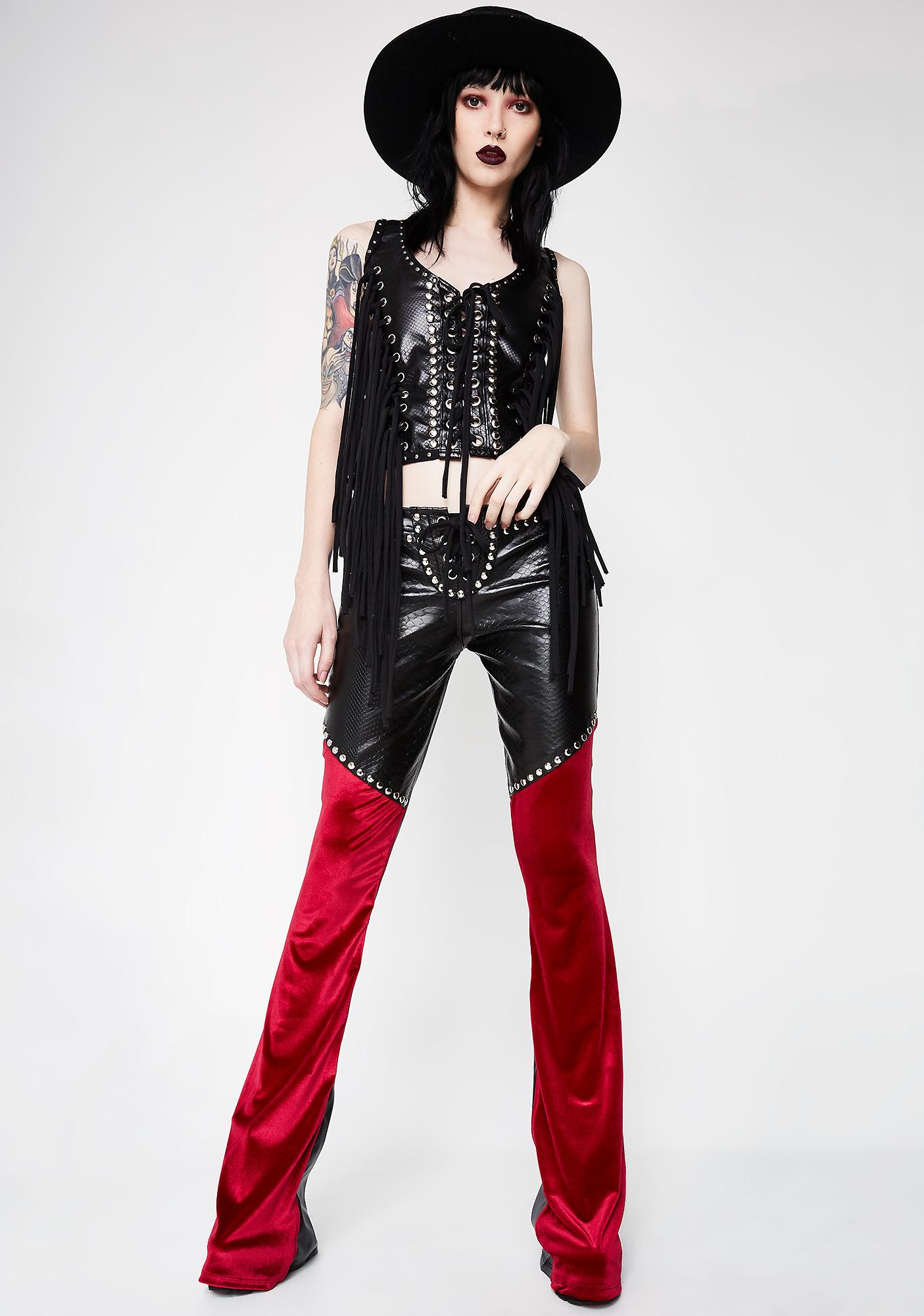 Wicked Lester Clothing  Royalty Skinny Flares