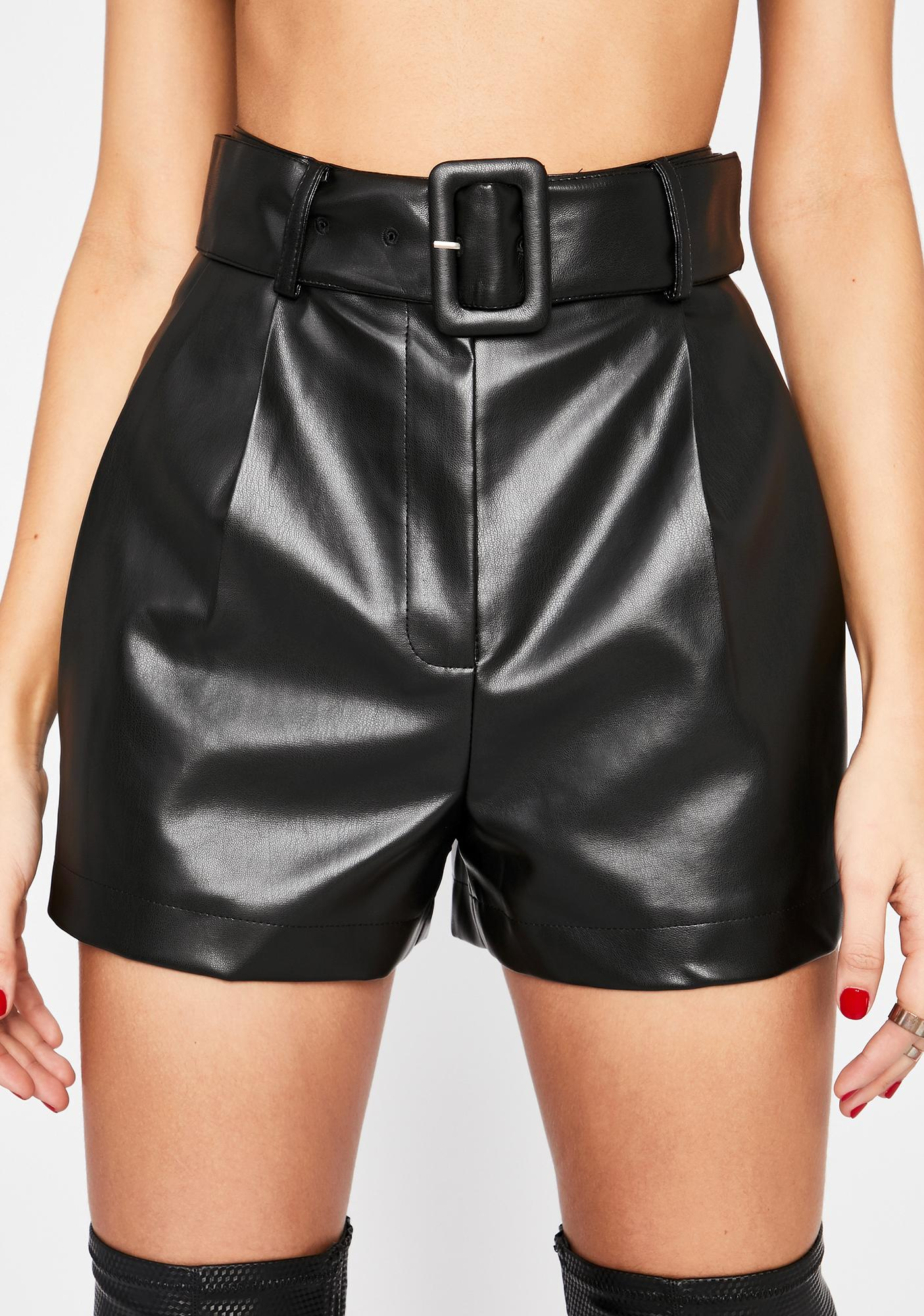 Miss Business Belted Shorts