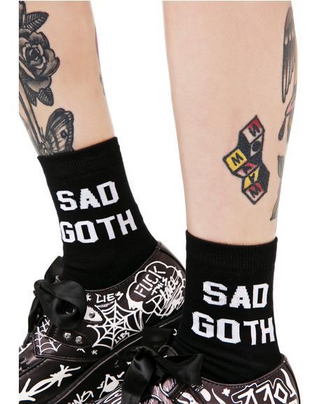 Sad Goth Ankle Socks
