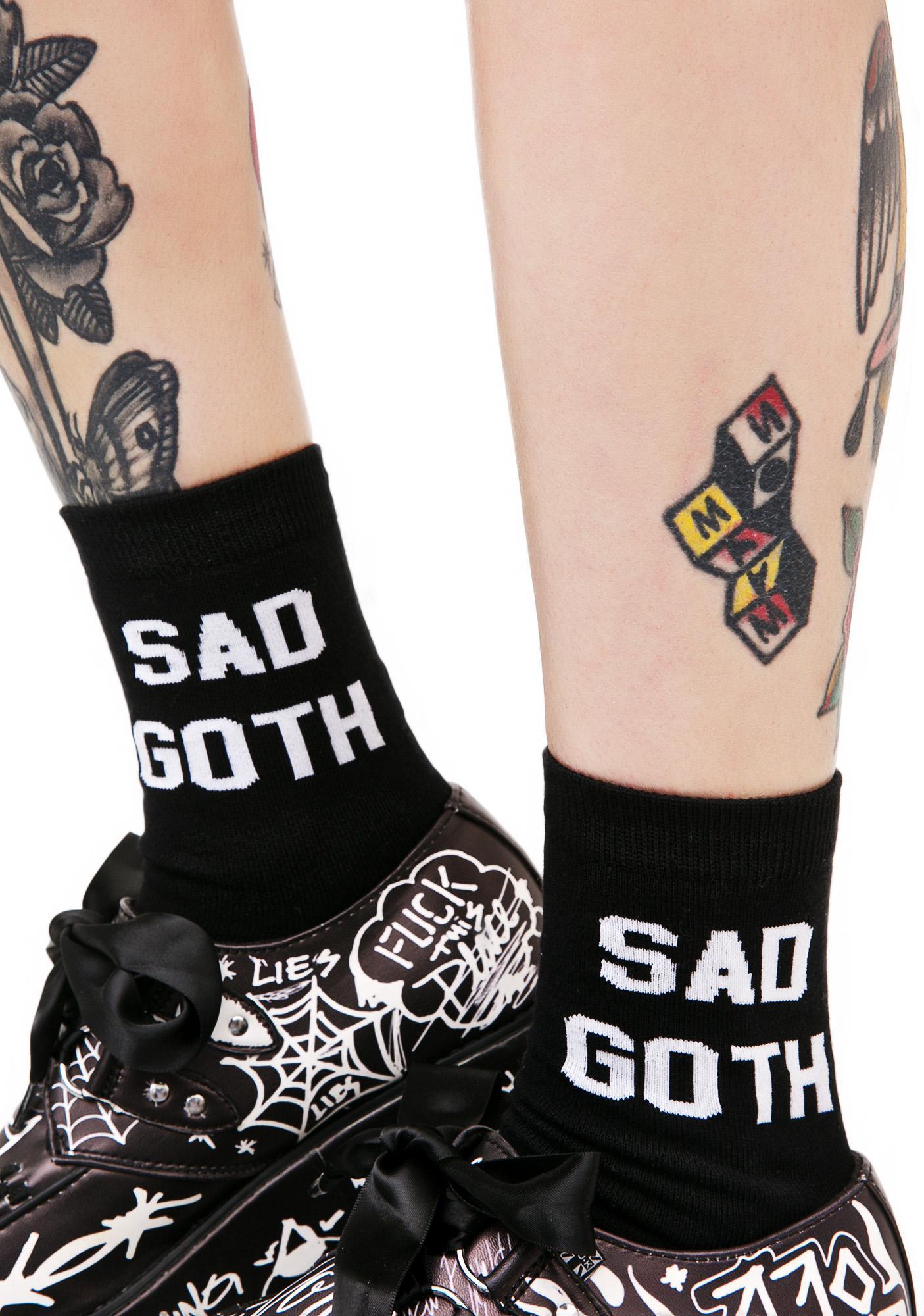 Killstar Sad Goth Ankle Socks