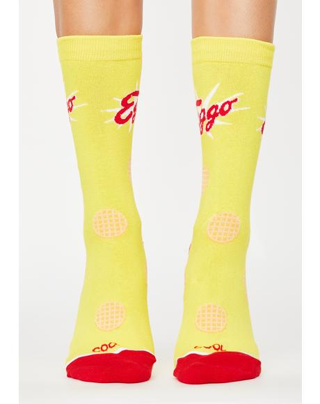 Eggo Waffles Crew Socks