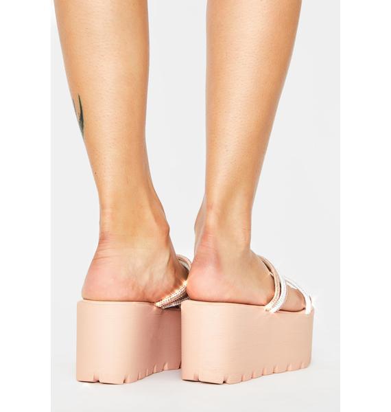 AZALEA WANG Pink Toyama Platform Sandals