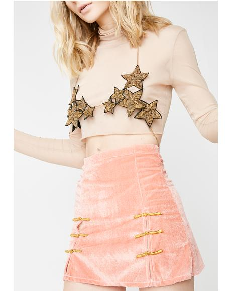 Peach Sincity Skirt