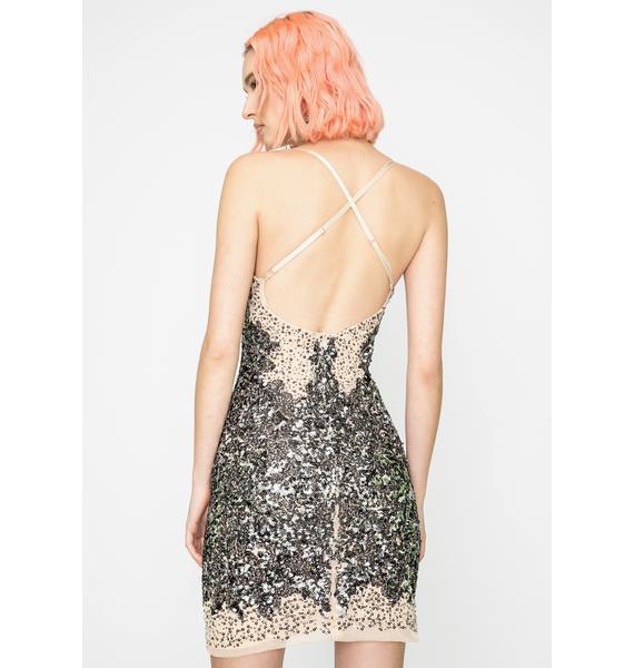 Kiki Riki Mouth Drop Sequin Dress