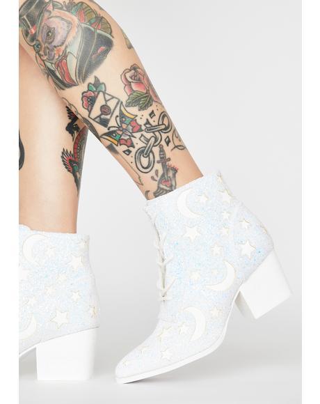 White Aura Reflective Boots