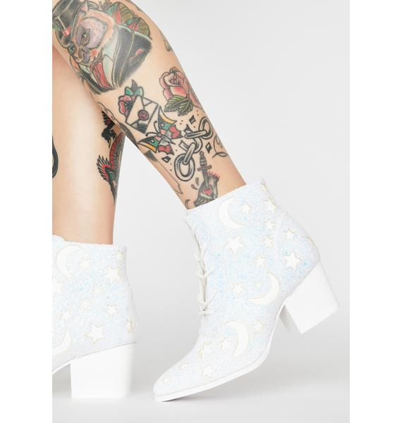 Y.R.U. White Aura Reflective Boots