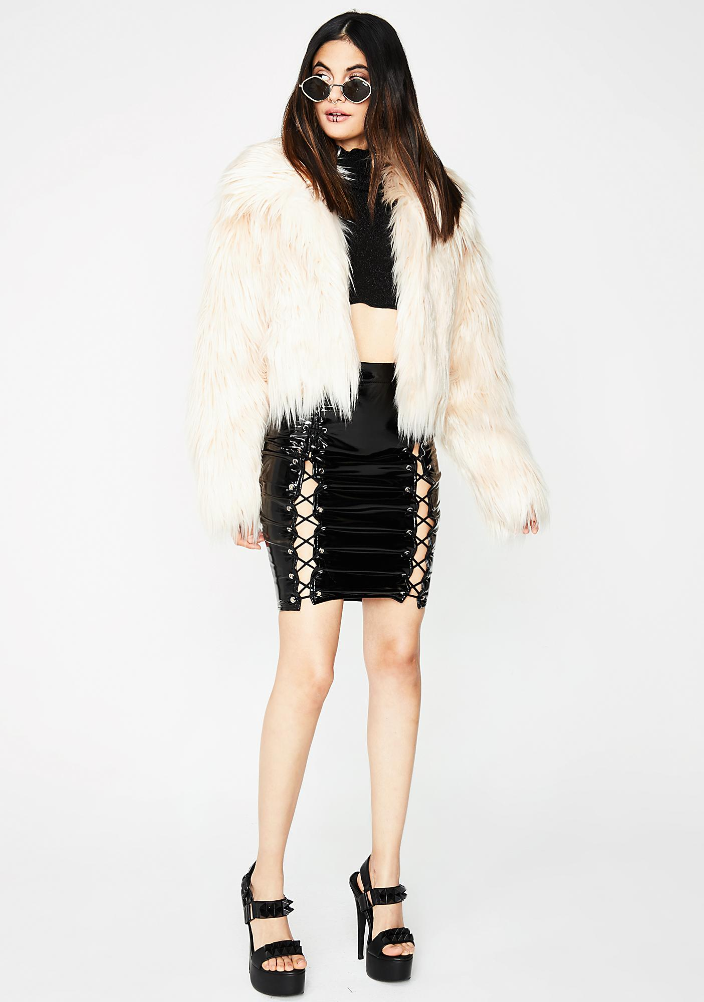 Pearl Never Furgotten Cropped Jacket