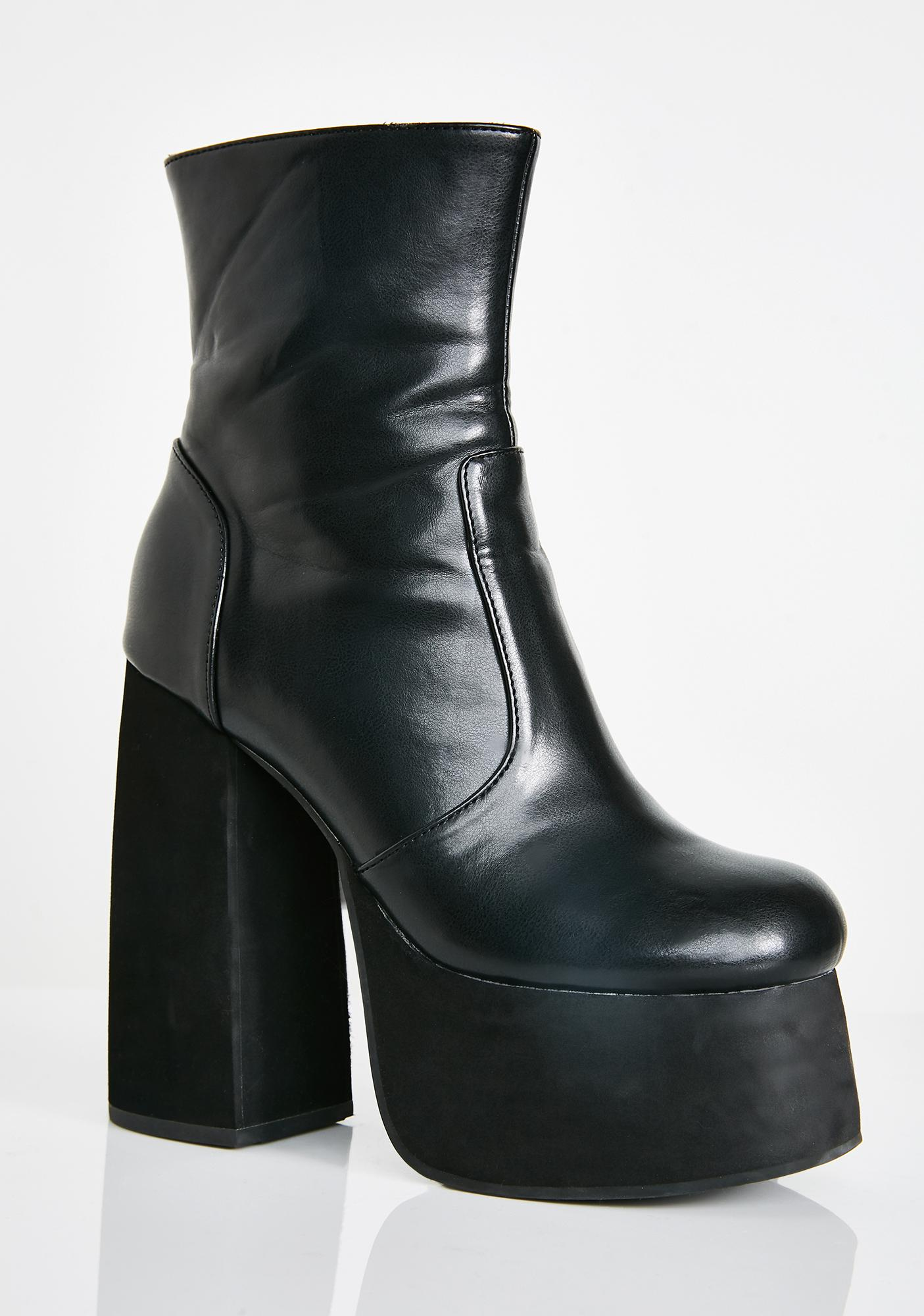 Current Mood Midnight Baddie Behavior Platform Boots