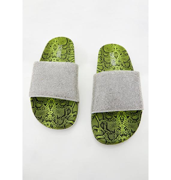 Cash Bitten Boujie Rhinestone Sandals