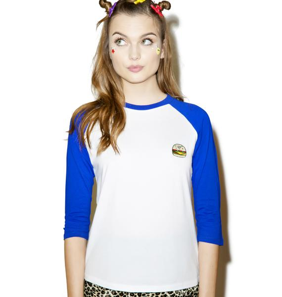 Lazy Oaf Burger Baseball T-Shirt