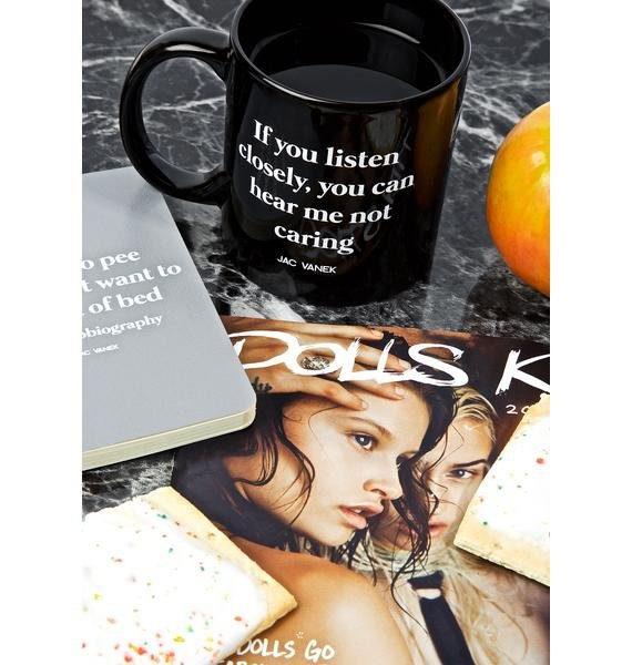 Jac Vanek Listen Closely Coffee Mug