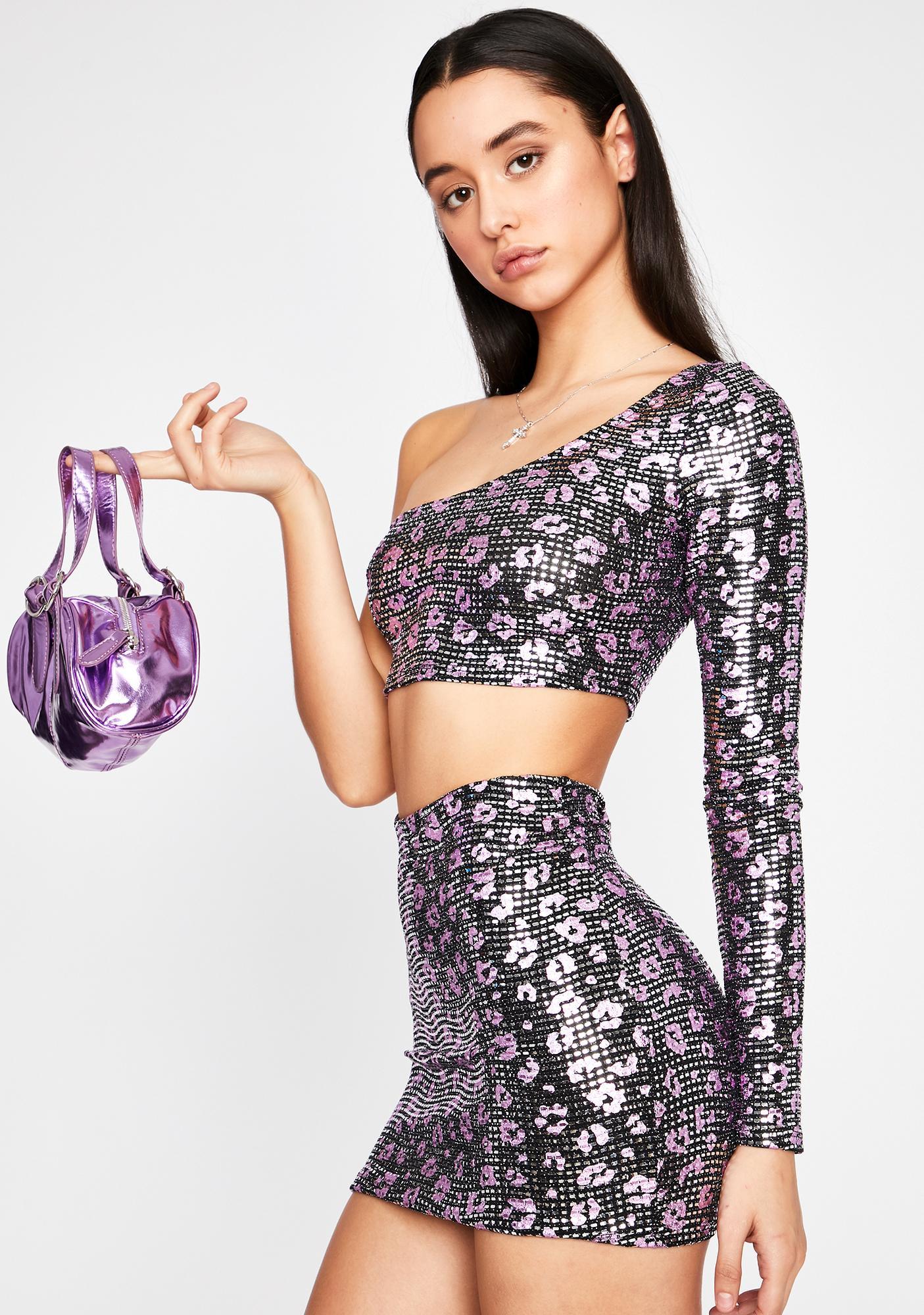 Fierce Glitz Sequin Skirt Set