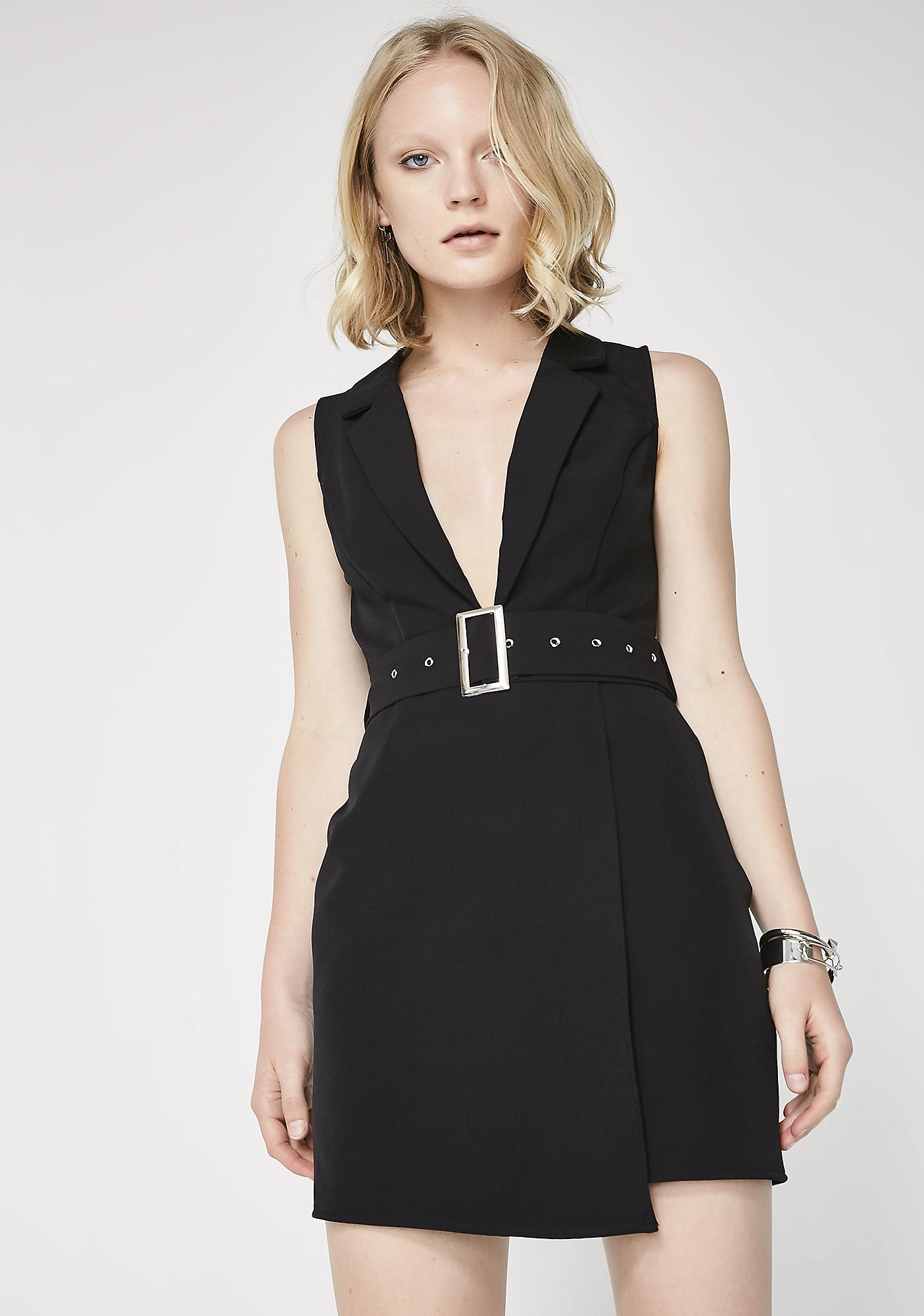 Seal The Deal Belted Dress