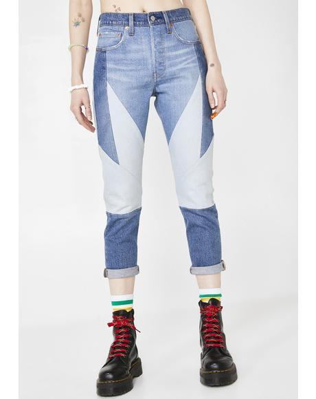 Twice As Nice 501 Skinny Jeans