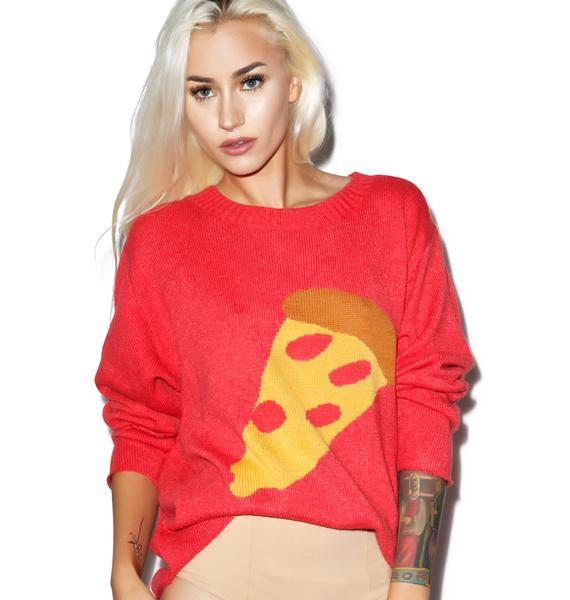 Wildfox Couture Pizza My Heart Vineyard Sweater