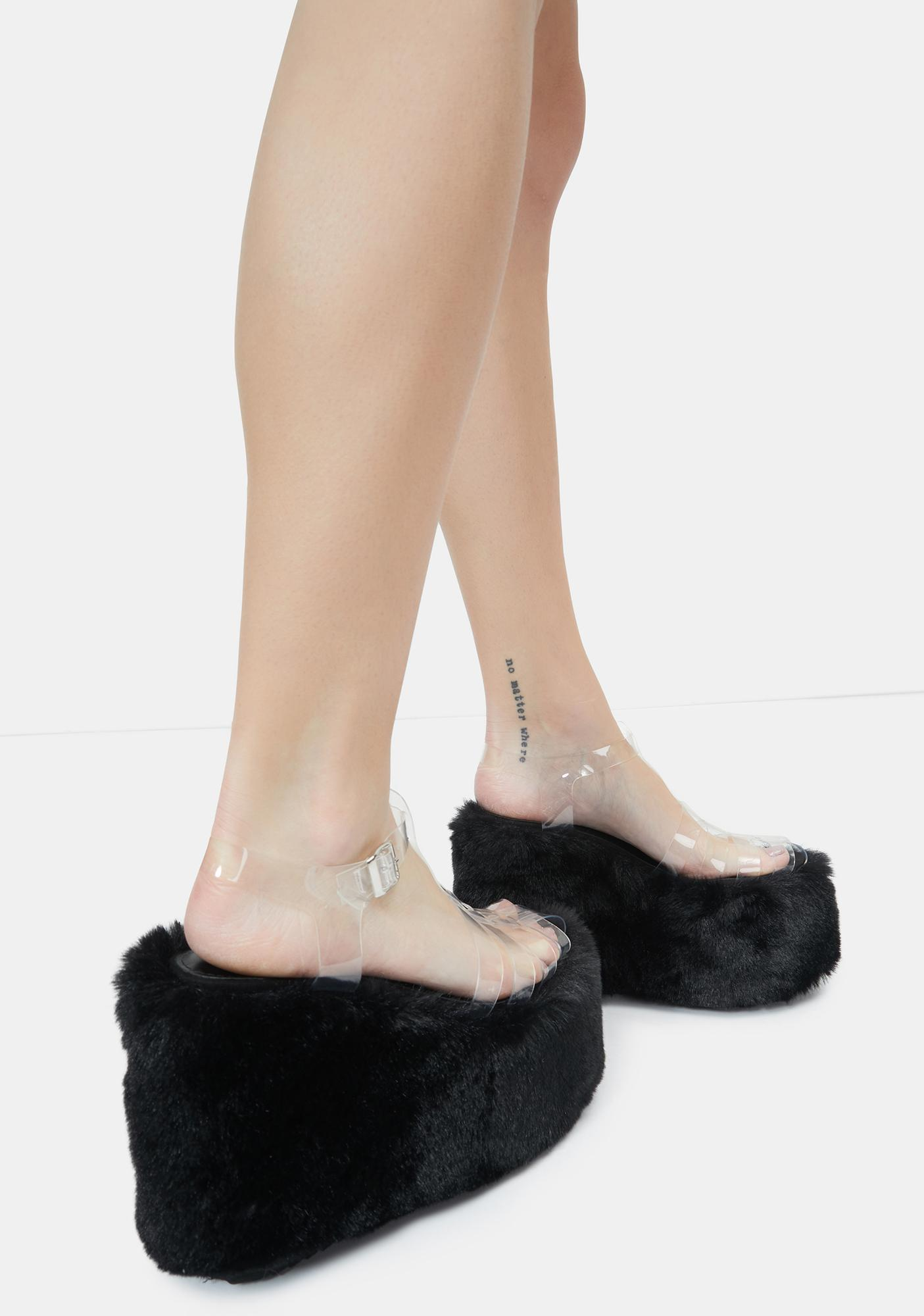 Lemon Drop by Privileged Black Zahara Platform Sandals