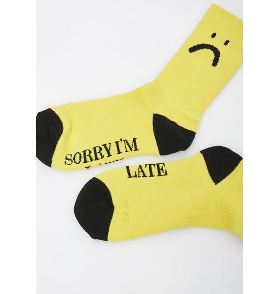 Lazy Oaf Sorry I'm Late Socks