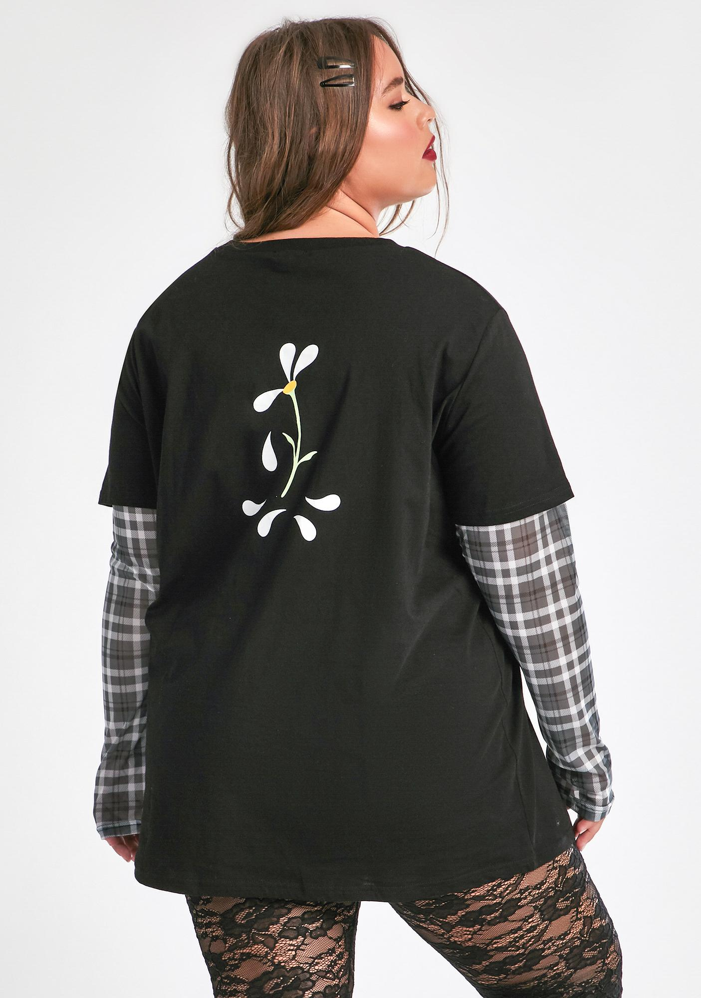 dELiA*s by Dolls Kill My New Best Friend Long Sleeve Graphic Tee