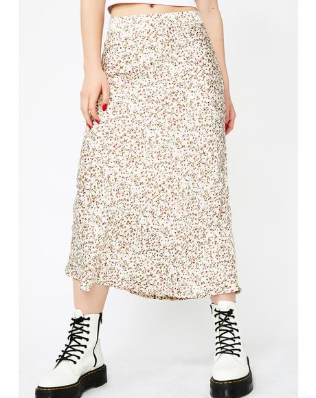Floral Fantasia Midi Skirt
