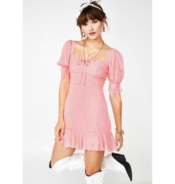 Drop A Hint Gingham Dress