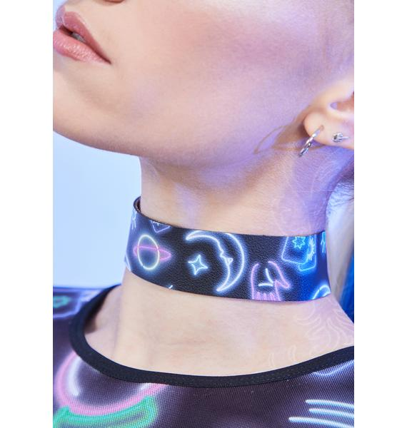 Sign Of The Times Printed Choker