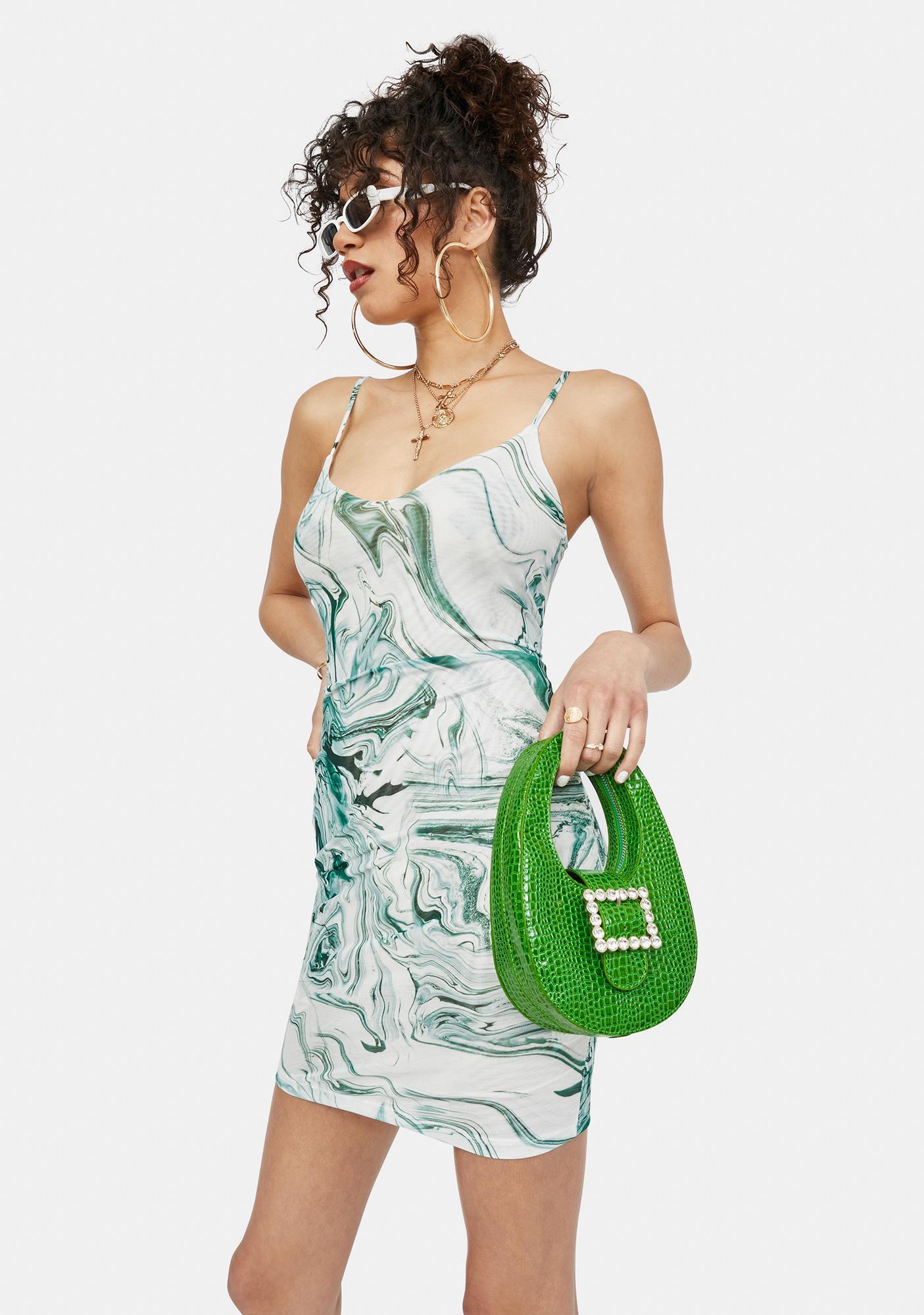 Werk Of Art Mesh Mini Dress