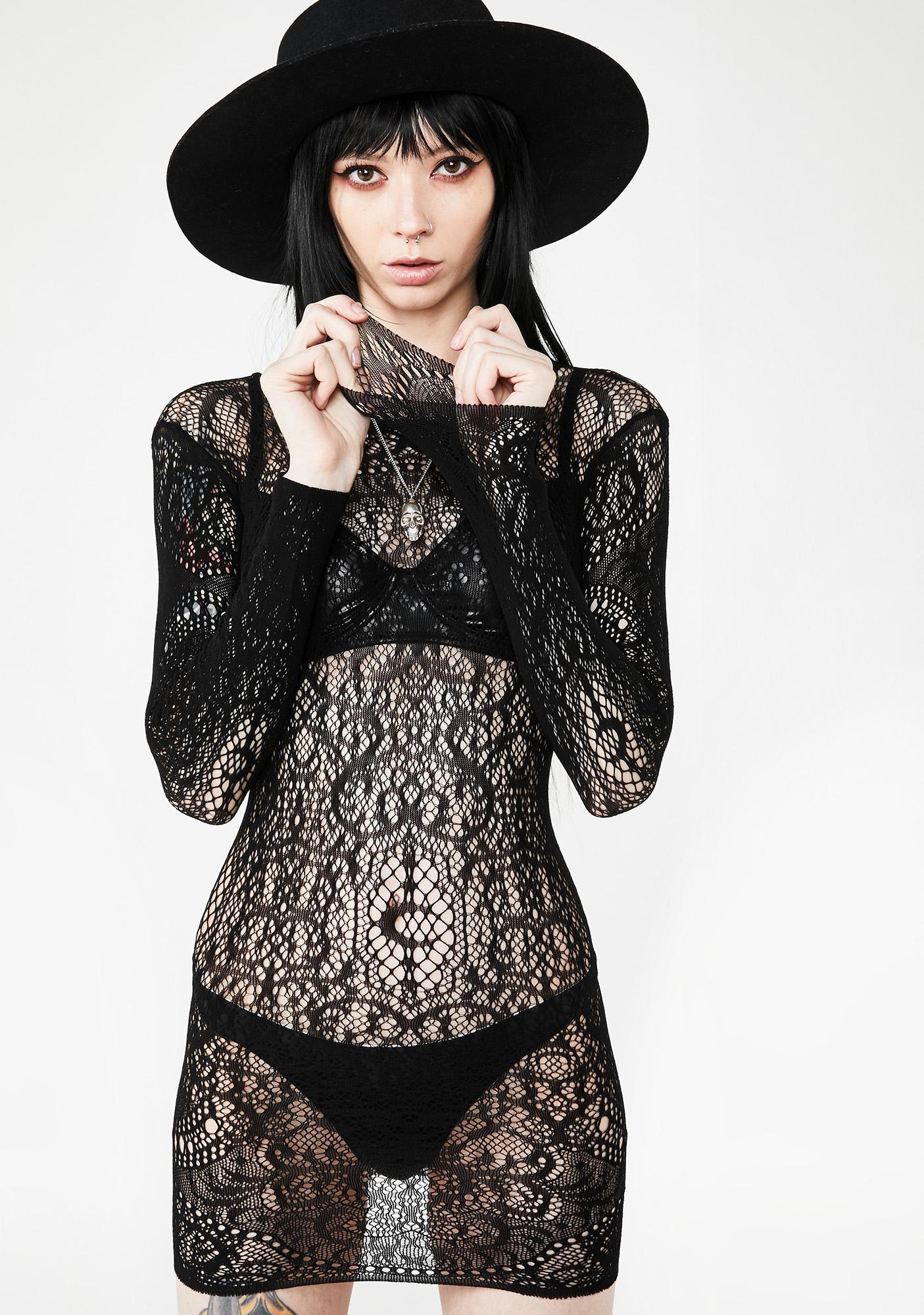 Killstar Ceres Chaos Lace Bodycon Dress