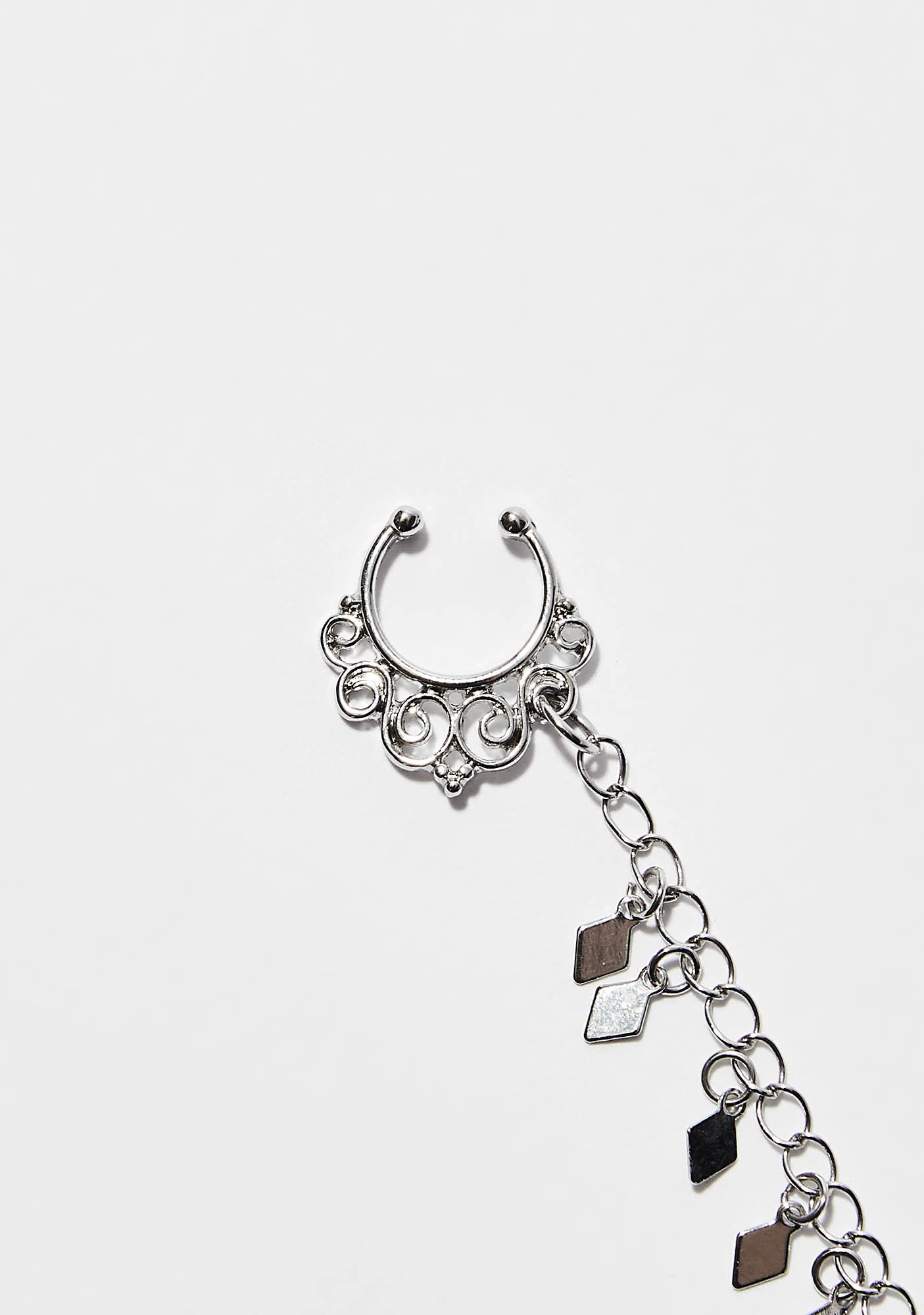 Chained Together Nose Earring Chain